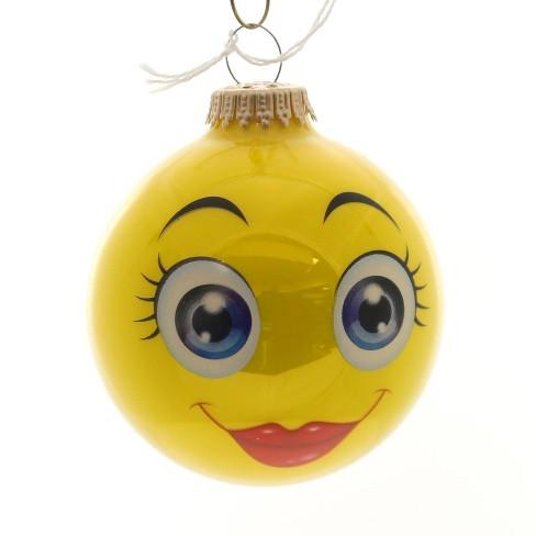 "Holiday Ornaments 3.25"" Full Sun Expression Ornament Fun Emoji  - - image 1 of 2"