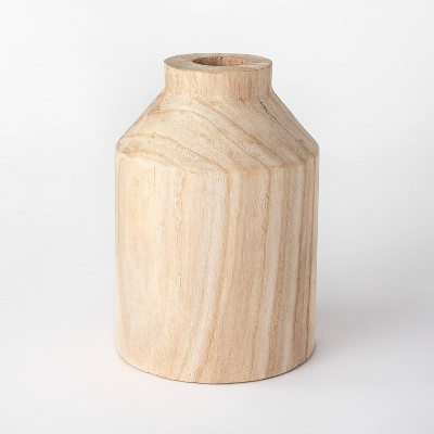 "9"" Decorative Wooden Vase Natural - Threshold™ designed with Studio McGee"