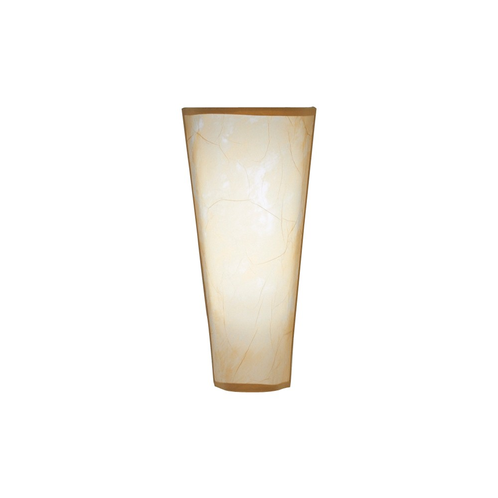 Battery-Operated Rice Paper Conical Tan Sconce