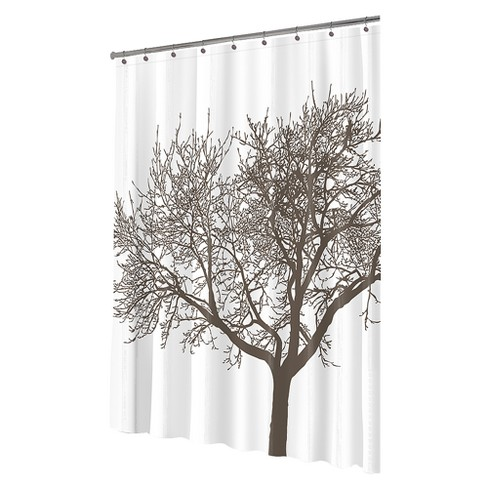 Tree EVA Shower Curtain Mocha