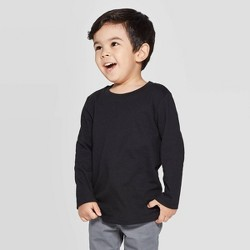 Toddler Boys' Long Sleeve T-Shirt - Cat & Jack™ Black