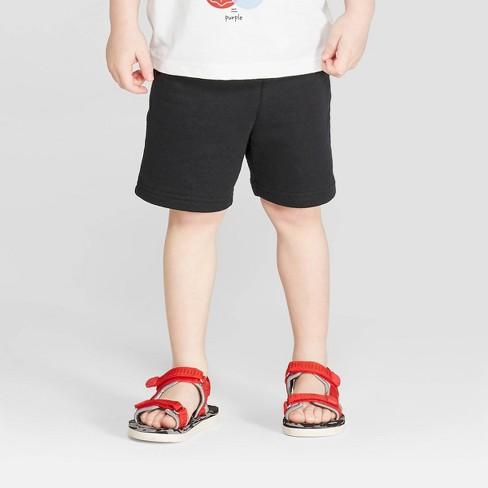 Toddler Boys' Knit Pull-On Shorts - Cat & Jack™ Black - image 1 of 3