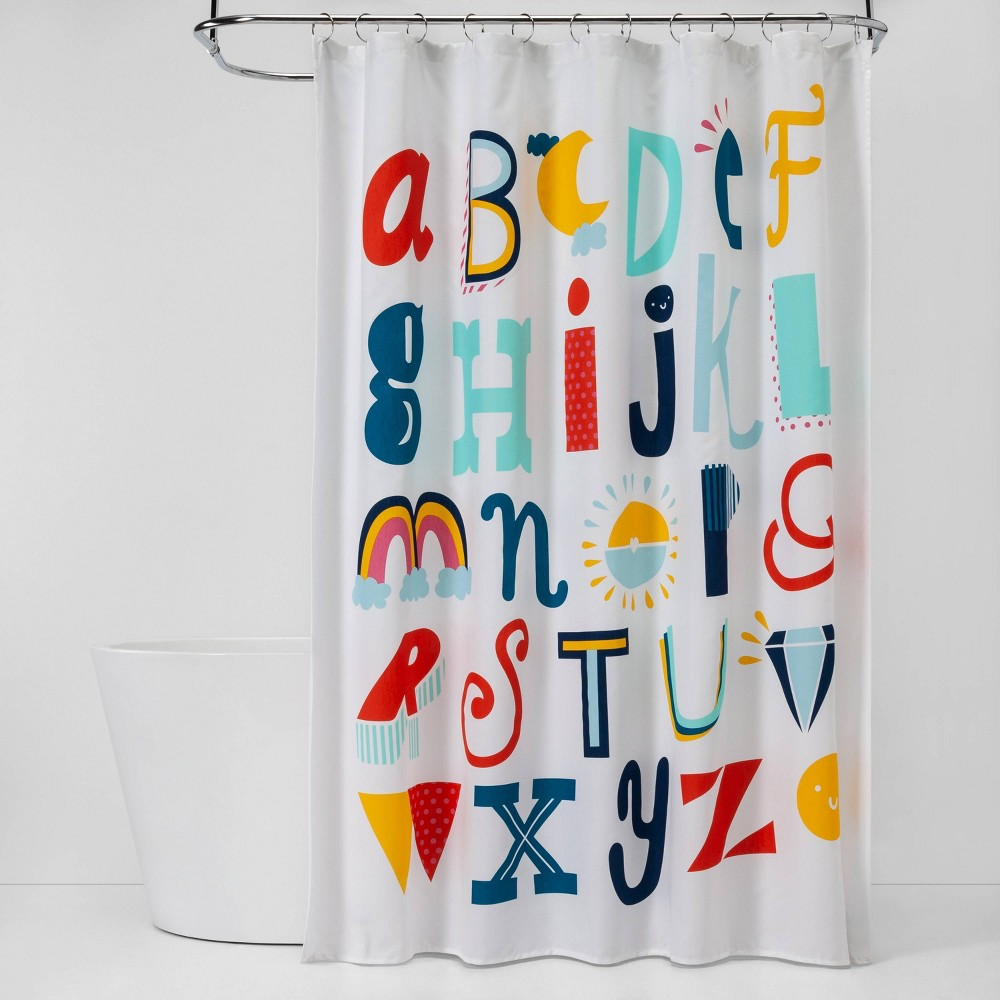 Image of ABC's Shower Curtain - Pillowfort