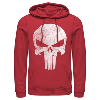 Men's Marvel Punisher Retro Skull Symbol Pull Over Hoodie