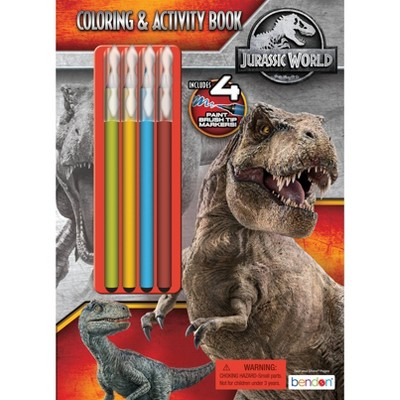Jurassic World Coloring Book with Brush Tip Markers