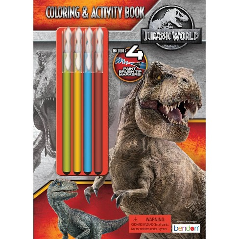 Jurassic World Coloring Book with Brush Tip Markers - image 1 of 3