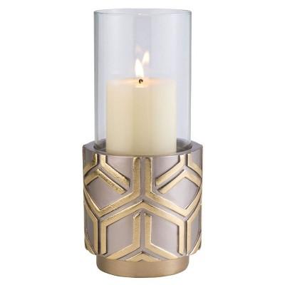 Ok Lighting Rose Gold Savanh Candleholder
