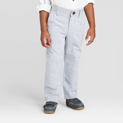 Toddler Boys' Classic Chambray Chino Pants - Cat & Jack™ Gray