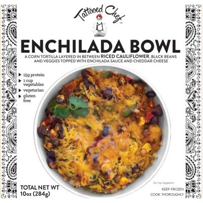 Tattooed Chef Frozen Enchilada Bowl - 10oz