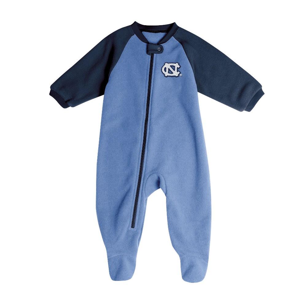 North Carolina Tar Heels Baby Boys' Long Sleeve Blanket Sleeper - 0-3M, Multicolored