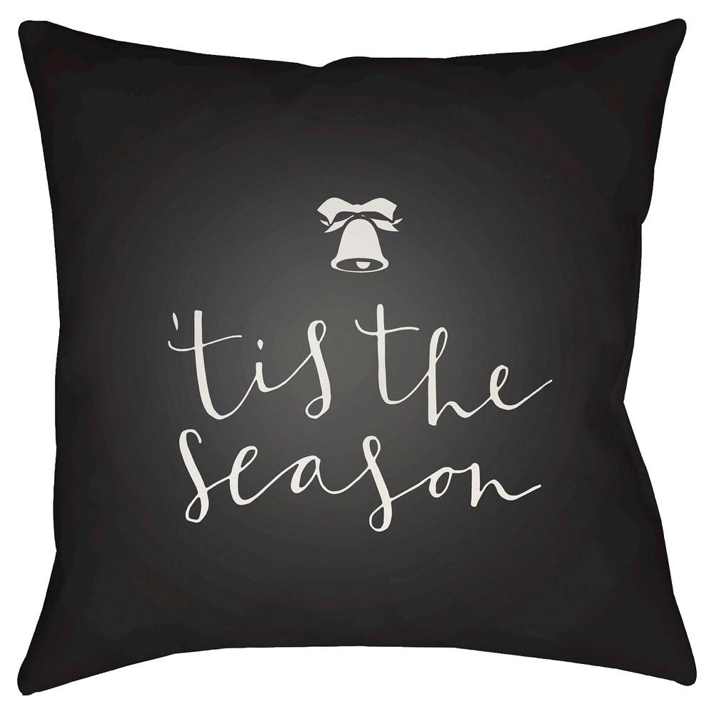 Black Tis The Season Throw Pillow 20