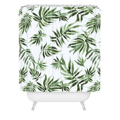 Marta Barragan Camarasa Leaf Shower Curtain Green - Deny Designs