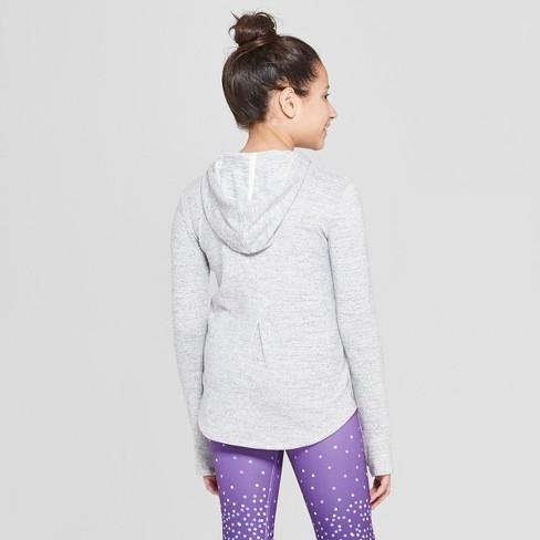 Girls  Cozy Long Sleeve Hoodie - C9 Champion® Light Grey Heather M   Target 12067037292f