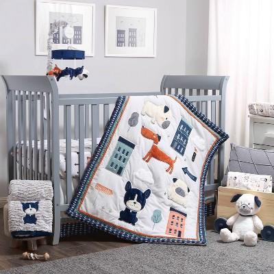 The Peanutshell Pug Life Crib Bedding Set - 3pc