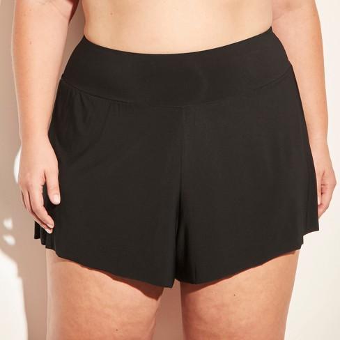 fd441780d84 Women s Swim Shorts - Aqua Green® Black 24W 26W   Target