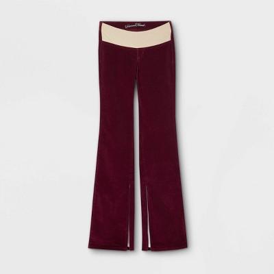 Women's High-Rise Corduroy Adaptive Bootcut Jeans - Universal Thread™ Burgundy