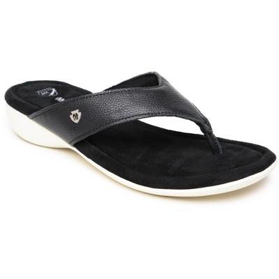Minnetonka Women's Leather Sienna Thong Sandals