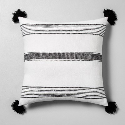 Striped Throw Pillow Sour Cream / Black - Hearth & Hand™ with Magnolia