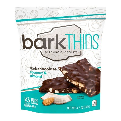 barkTHINS Coconut With Almonds Dark Chocolate - 4.7oz