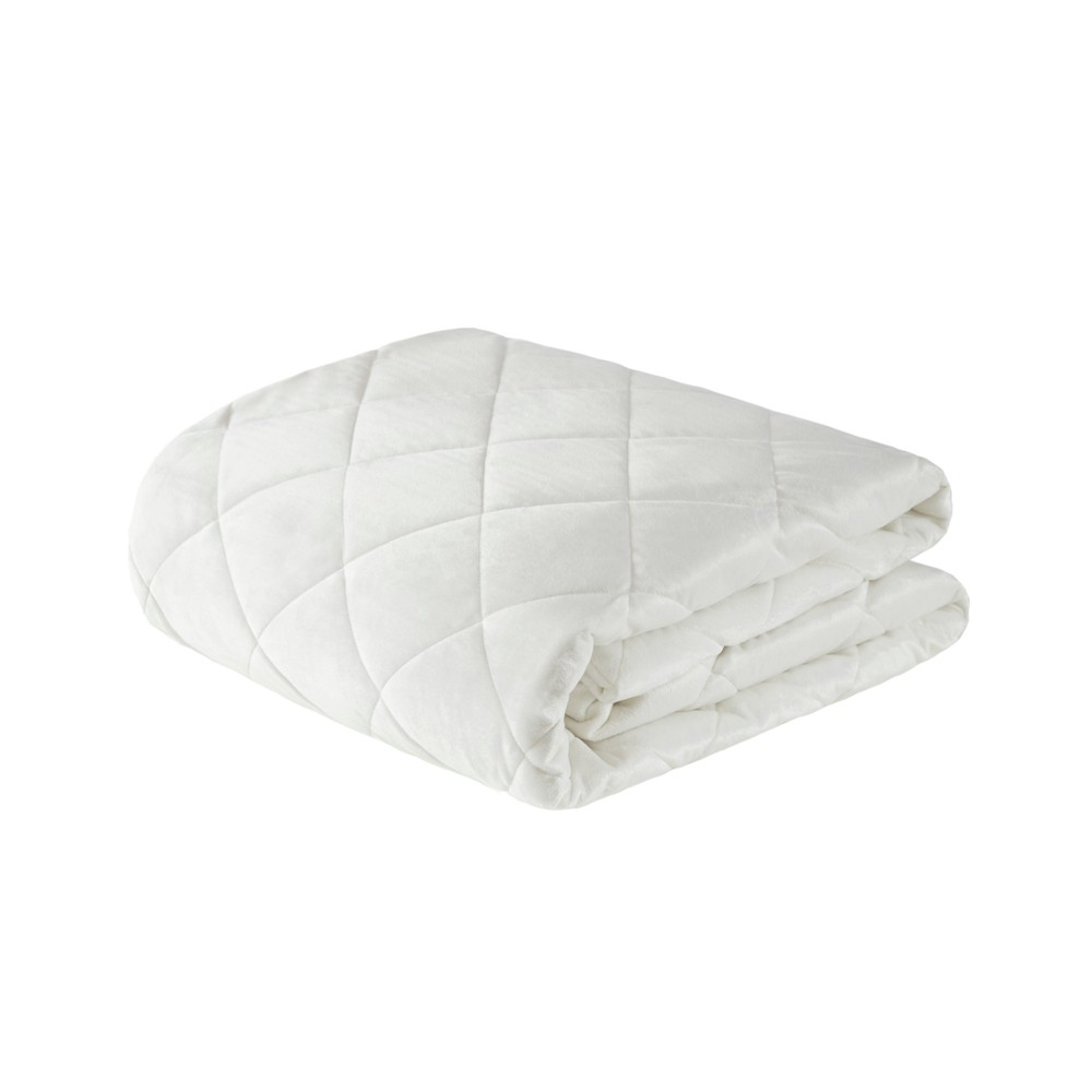"""Image of """"60""""""""x70"""""""" 18lb Luxury Mink Weighted Blanket Ivory - Beautyrest"""""""