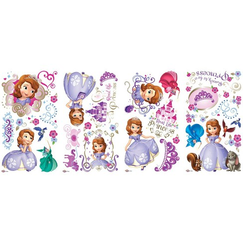 Disney Sofia the First Giant Wall Decals - image 1 of 1