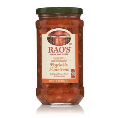 Rao's Soup Vegetable Minestrone - 16oz