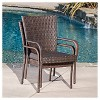 Dunham 7pc Wicker Patio Dining Set - Multibrown - Christopher Knight Home - image 3 of 4