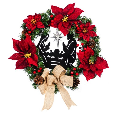 Cypress Home Beautiful Christmas Led Nativity Wreath Indoor Decor 20 X 5 X 20 Inches Indoor Outdoor Decoration For Hom Target