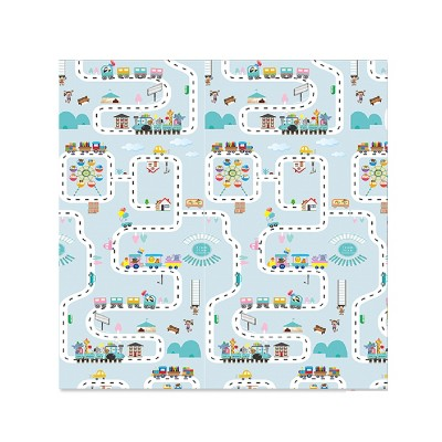 ISFC INSURFINSPORT Large Anti Slip Lightweight Soft Foldable Waterproof Crawling Baby Play Mat for Babies, Toddlers, Kids Outdoor or Indoor, Blue