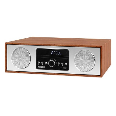 Victrola VS-120-MPL Bluetooth Microsystem with CD, USB and Radio (Maple)