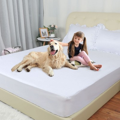PiccoCasa Comfortable Waterproof Breathable Cotton and TPU Mattress Protector Covers 1 Pc