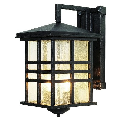 Japanese Garden 13  Outdoor Wall Light Black