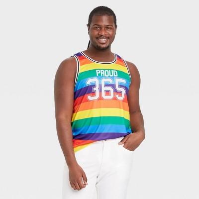 Pride Gender Inclusive Adult Proud 365 Rainbow Jersey Tank Top