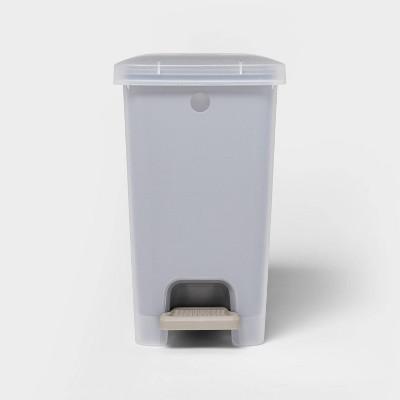 2.7gal Step Trash Can Wastebasket Gray - Room Essentials™