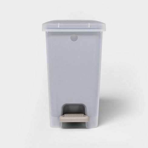 2.7gal Step Trash Can Wastebasket Gray - Room Essentials™ - image 1 of 3