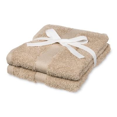 2pk Hand Towel Tan - Room Essentials™