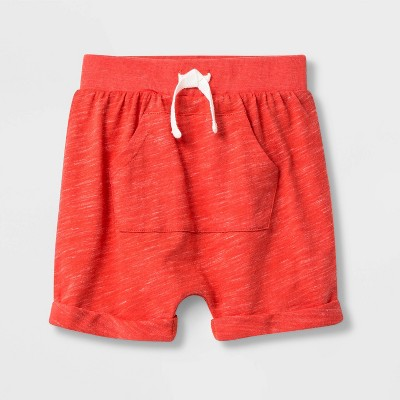 Baby Boys' Faux Creek Jersey Knit pull-on Shorts - Cat & Jack™ Red Newborn