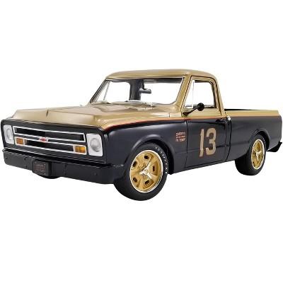 "1967 Chevrolet C10 Pickup Shop Truck #13 ""Smokey Yunick"" Gold and Black Ltd Ed to 612 pcs 1/18 Diecast Model Car by ACME"