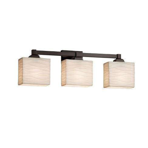 """Justice Design Group PNA-8433-55-WAVE-LED3-2100 Porcelina 23.5"""" Regency 3 Light LED Vanity Light - image 1 of 1"""