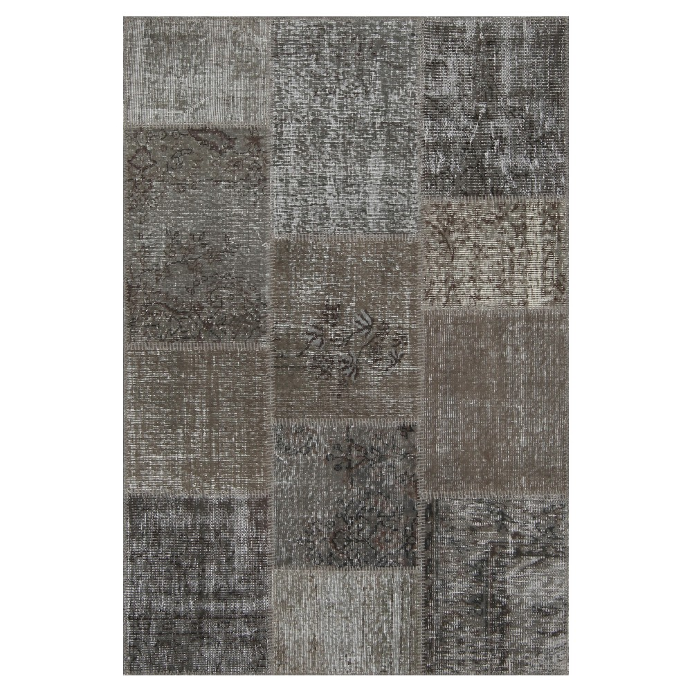 "Image of ""Antique Patchwork Accent Rug Stone 3'11""""x5'11"""", Stone Gray"""