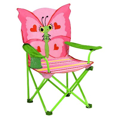 Melissa & Doug® Sunny Patch Bella Butterfly Outdoor Folding Lawn and Camping Chair with Carrying Case
