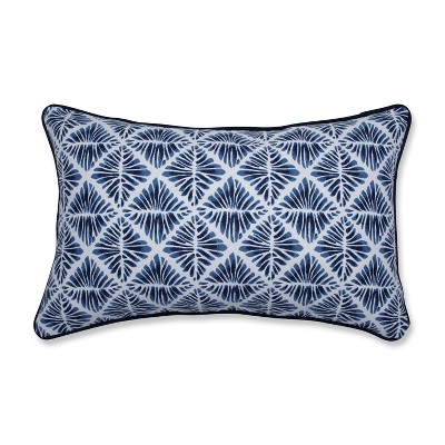 Gem Field Lumbar Throw Pillow Indigo - Pillow Perfect