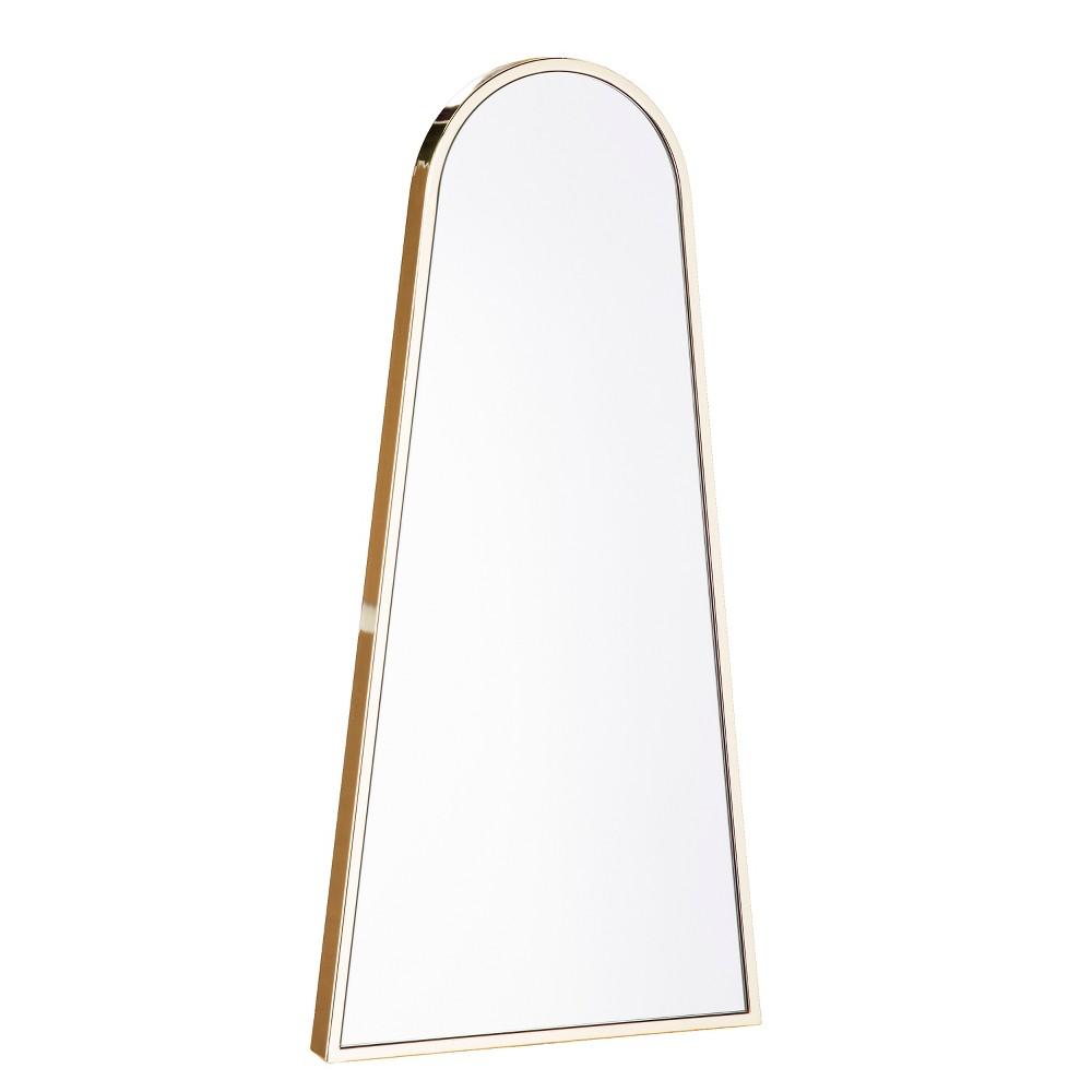 "Image of ""Aiden Lane 36""""x18"""" Arlo Decorative Wall Mirror Brass"""