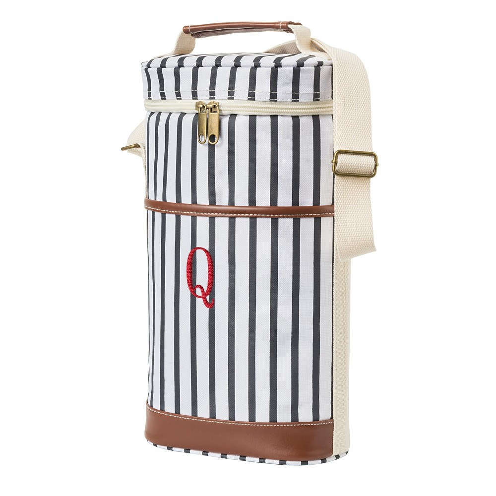 Cathy's Concepts Striped Wine Cooler - Q, Blue Brown White