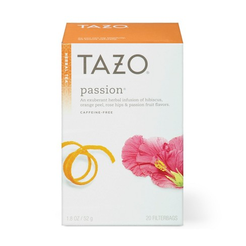 starbucks tazo passion tea nutrition facts