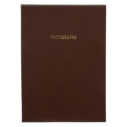 "Pinnacle Albums 9"" x 9"" Premium Leather Photo Albums Set Brown - image 1 of 6"