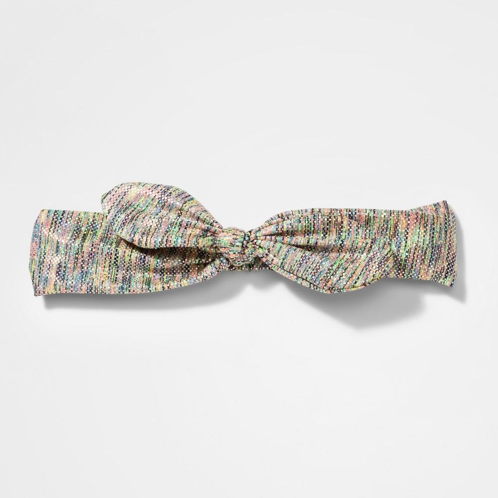 Girls' Metallic Dot Bow Headwrap - Cat & Jack, Multi-Colored