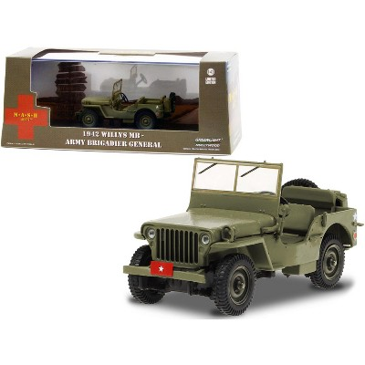 "1942 Willys MB Army Green ""Army Brigadier General"" ""MASH"" (1972-1983) TV Series 1/43 Diecast Model Car by Greenlight"