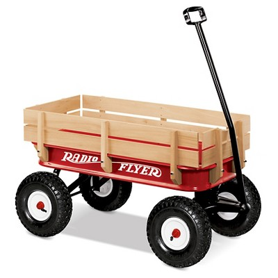 "Radio Flyer 34"" All-Terrain Steel & Wood Wagon"