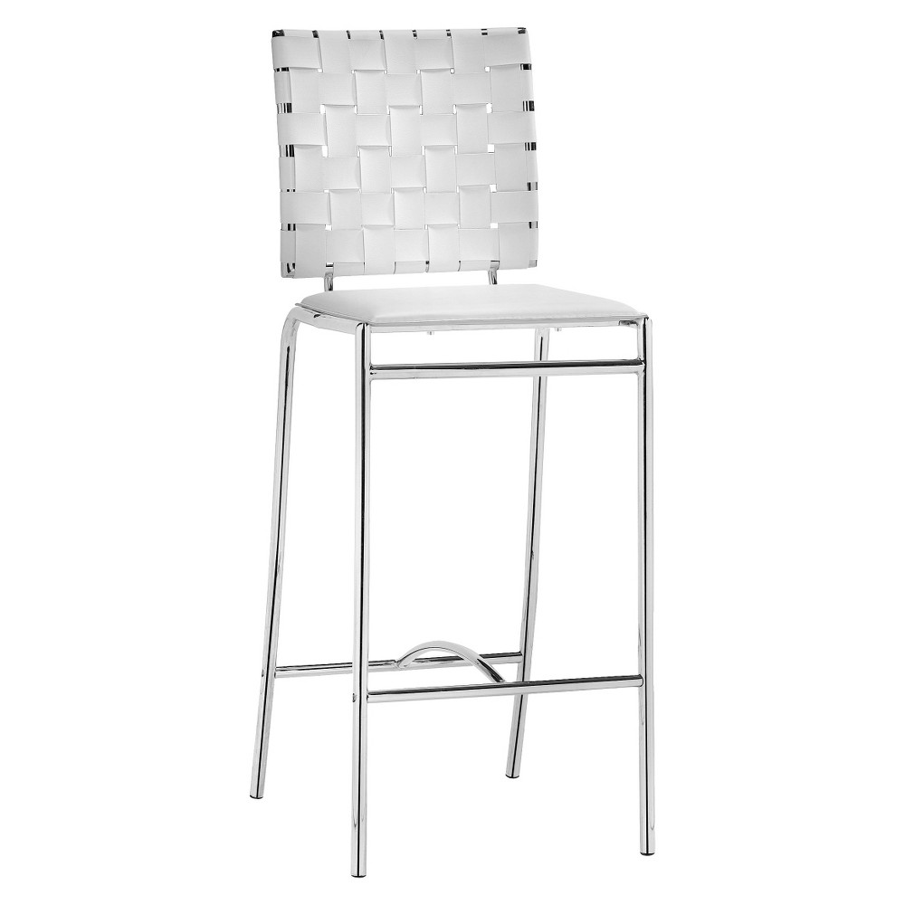 Modern 26 Counter Chair - White (Set of 2) - ZM Home